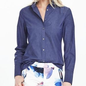 Banana Republic Shirt Size 12 Navy Riley Shirt